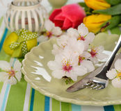 Easter cutlery Stock Photos