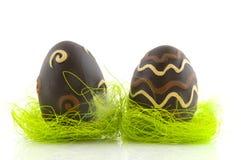 easter czekoladowi jajka zdjęcia stock