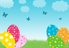 Easter day. Colorful card for easter day Royalty Free Stock Images