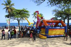 Easter day activities in Santo Domingo Royalty Free Stock Photography