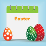 Easter day calendar royalty free stock image