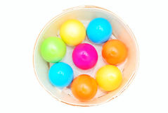Easter day colorful eggs Stock Photos