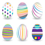 Easter day  for egg isolated on vector design. Colorful Chevron pattern for eggs. Colorful egg isolated on white background. Stock Photography