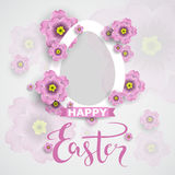 Easter day greeting card, poster,  vector illustration Royalty Free Stock Image