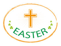Easter day jesus cross banner. Isolated on white background  illustration Stock Photography
