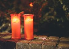 The lights in candles royalty free stock photo