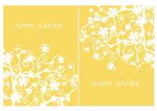 Easter day,The white flowers on yellow background,vector illustration.. Stock Image