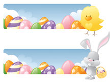 Easter Days Banners Royalty Free Stock Images