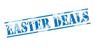 Easter deals blue stamp Royalty Free Stock Image