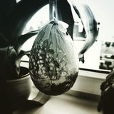 Easter decor egg. Artistic look in duotone style. Stock Photography