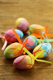 Easter decor eggs Stock Image