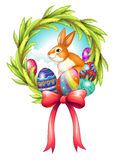 An easter decor with a ribbon Royalty Free Stock Photo