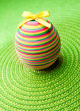 Easter decorastion egg  on green background Royalty Free Stock Image