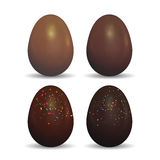 Easter decorated chocolate eggs. Royalty Free Stock Image