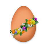 Easter decorated egg with flowers and plants Royalty Free Stock Photos