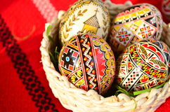 Easter decorated eggs Royalty Free Stock Photos