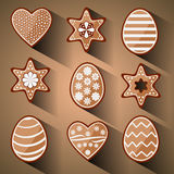 Easter decorated gingerbread cookies Royalty Free Stock Images