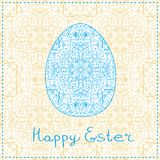 Easter Decorated Swirl Egg Silhouette Royalty Free Stock Photos