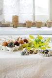 Easter decorated table Stock Photography