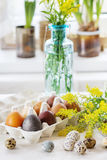 Easter decorated table Stock Image