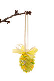 Easter decoration. The subject is isolated on pure white Stock Photos