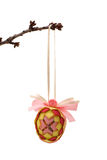 Easter decoration. The subject is isolated on pure white Stock Images