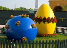 Easter decoration. Easter outdoor decoration in europe royalty free stock image