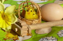 Easter decoration. With eggs and chickens Stock Images