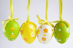 Easter decoration. Easter eggs on background Royalty Free Stock Images