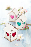 Easter decoration with apple blossom. Stock Image