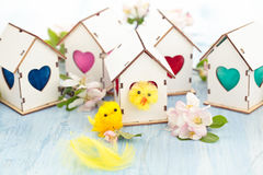 Easter decoration with apple blossom. Royalty Free Stock Photo