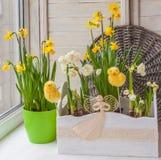 Easter decoration balcony Stock Image