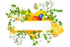 Easter decoration banner Stock Photo