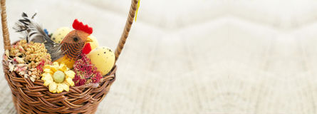 Easter decoration banner Royalty Free Stock Images