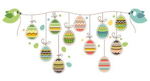 Easter decoration with birds Royalty Free Stock Images