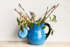 Easter decoration in blue Royalty Free Stock Photography