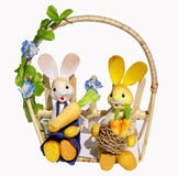 Easter decoration with bunnies Stock Photo