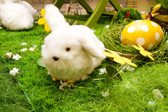 Easter decoration - bunny and egg Stock Photos
