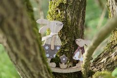Easter Decoration in a Tree stock photo