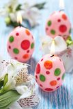 Easter decoration with candles Stock Image