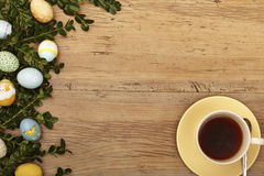 Easter decoration, coffee cup Royalty Free Stock Photo