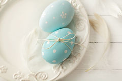 Easter decoration. Colorful easter eggs - easter decoration Stock Images