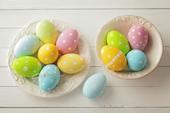 Easter decoration. Colorful easter eggs - easter decoration Stock Photo
