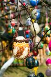 Easter decoration from colorful eggs Royalty Free Stock Image