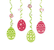 Easter decoration. Colorful spring and easter decoration, colorful easter eggs Royalty Free Stock Photo