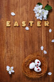 Easter decoration with cookies and eggs Royalty Free Stock Image