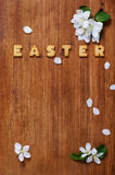 Easter decoration with cookies and flowers apple Stock Images