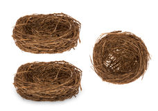 Easter decoration-  decorative nest for eggs isolated. Royalty Free Stock Photo
