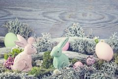 Easter decoration. On a wooden background stock photography