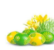Easter decoration with Easter eggs. Stock Photos